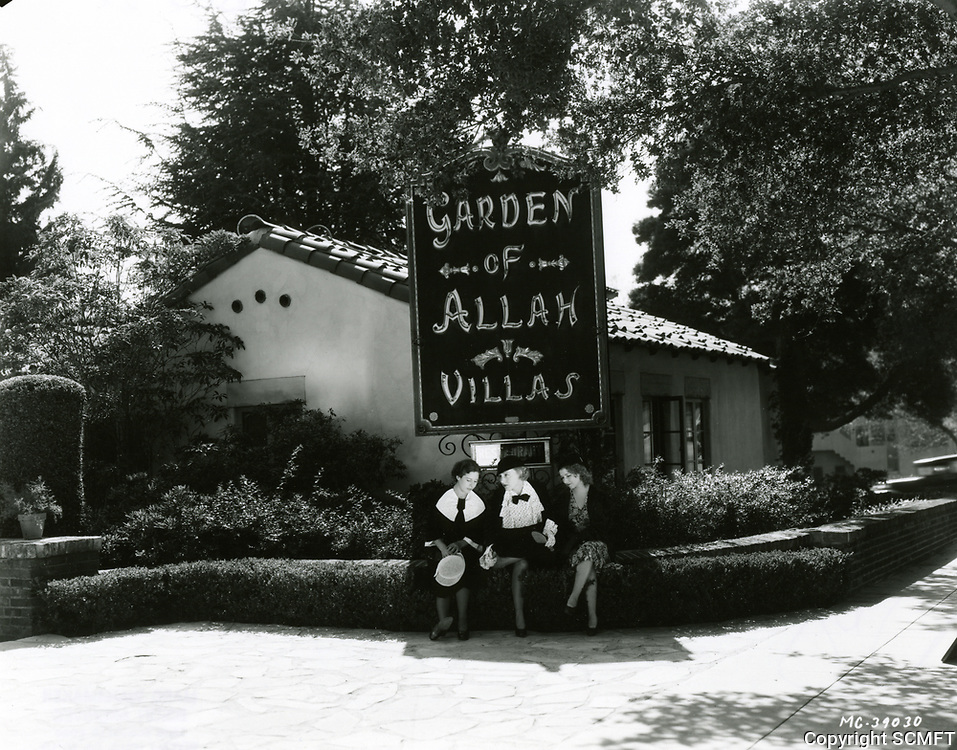1937 Garden of Allah Hotel on Sunset Blvd. in West Hollywood
