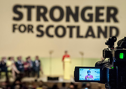 SNP leader Nicola Sturgeon launches the party's manifesto for the general election in Perth.<br /> <br /> © Dave Johnston/ EEm
