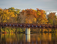 Fall color on St. Joseph River on the IUSB campus.