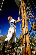 Image of the Susan Constant ship docked at Jamestown Settlement, Virginia, east coast by Randy Wells
