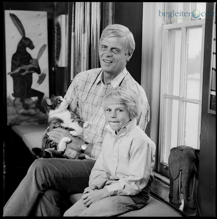 George Plimpton and son photographed at their apartment in NYC 1987 These are images from my critically acclaimed book Fathers an Sons. All images are model released and for sale.