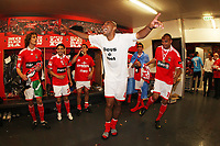 20100509: LISBON, PORTUGAL - SL Benfica vs Rio Ave: Portuguese League 2009/2010, 30th round. Players celebrations in the locker room. In picture: Luisao, David Luiz, Eder Luis, Maxi Pereira, Angel Di Maria and Weldon. PHOTO: CITYFILES