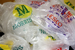 """File photo dated 05/10/15 of supermarket plastic bags. Ministers have been accused of """"creative accounting"""" in an attempt to meet the Government's target for reducing the cost of red tape to business by £10 billion."""
