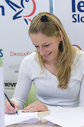 Sara Oresnik when Slovenian athletes and their coaches sign contracts with Athletic federation of Slovenia for year 2009,  in AZS, Ljubljana, Slovenia, on March 2, 2009. (Photo by Vid Ponikvar / Sportida)