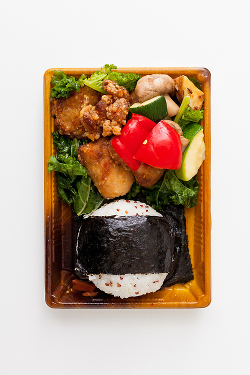 Tuna Onigiri & Karage Bento Set from Midoriya ($7.17)