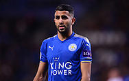 Riyad Mahrez of Leicester city looks on .Premier league match, Leicester City v West Bromwich Albion at the King Power Stadium in Leicester, Leicestershire on Monday 16th October 2017.<br /> pic by Bradley Collyer, Andrew Orchard sports photography.