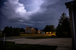 Lightning show during a July thunderstorm in Central Illinois produced by the heat convection of the humid day.