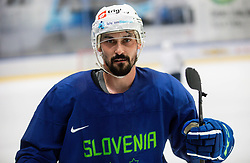 "Klemen Pretnar during practice session of Slovenian Ice Hockey National team before ""Beat Covid-19 Ice Hockey Tournament"", on May 12, 2021 in Hala Tivoli, Ljubljana, Slovenia. Photo by Vid Ponikvar / Sportida"