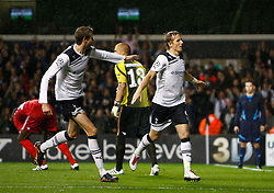29.09.2010, Withe harde Lane, London, ENG, UEFA CL, Tottenham vs FC Twente, im Bild Tottenham's Russian player Roman Pavlyuchenko celebrates spurs 2nd goal. .Tottenham Hotspur v FC Twente, Group A, of the UCL ( Uefa Champions League Group stages).at White Hart Lane in London. EXPA Pictures © 2010, PhotoCredit: EXPA/ IPS/ Kieran Galvin +++++ ATTENTION - OUT OF ENGLAND/UK +++++