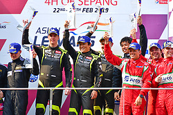 February 24, 2019 - Sepang, Malaisie - 11 CAR GUY (JPN) FERRARI 488 GT3 GT TAKESHI KIMURA (JPN) KEI COZZOLINO (JPN) JAMES CALADO (GBR) WINNER GT (Credit Image: © Panoramic via ZUMA Press)