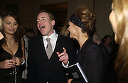 Olivia Cole, Bret Easton Ellis and Trinny Woodall. Party for Bret Easton Ellis's book 'Lunar Park'  given by Geordie Greig. Home House. Portman Sq. London.  London. 5 October 2005. . ONE TIME USE ONLY - DO NOT ARCHIVE © Copyright Photograph by Dafydd Jones 66 Stockwell Park Rd. London SW9 0DA Tel 020 7733 0108 www.dafjones.com