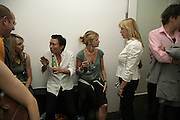 KASIRA KANTAVANICH, KATHERINE ALLEN AND ANNA HYDE, Surprise, Surprise. ICA. 1 August 2006. ONE TIME USE ONLY - DO NOT ARCHIVE  © Copyright Photograph by Dafydd Jones 66 Stockwell Park Rd. London SW9 0DA Tel 020 7733 0108 www.dafjones.com