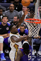 October 23, 2018 - New Orleans, LA, U.S. - NEW ORLEANS, LA - OCTOBER 23:  New Orleans Pelicans forward Julius Randle (30) drives to the basket against LA Clippers forward Montrezl Harrell (5) on October 23, 2018, at Smoothie King Center in New Orleans, LA. (Photo by Stephen Lew/Icon Sportswire) (Credit Image: © Stephen Lew/Icon SMI via ZUMA Press)