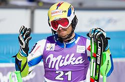 VALENCIC Mitjaof Slovenia in finish area after he competed in 2nd Run of Men's Slalom - Pokal Vitranc 2012 of FIS Alpine Ski World Cup 2011/2012, on March 11, 2012 in Vitranc, Kranjska Gora, Slovenia.  (Photo By Vid Ponikvar / Sportida.com)