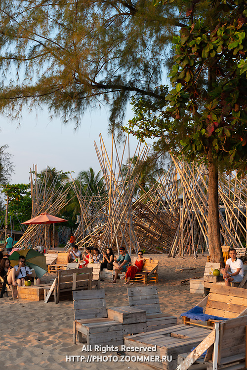 People enjoying sunset in Sunset Sanato Beach Club, Phu Quoc