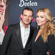 NLD/Amsterdam/20171207 - inloop The Roast of Giel Beelen, Froukje de Both en partner radio-dj Niek van der Bruggen