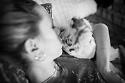 Lauren and her catahoula leopard dog, Bauer