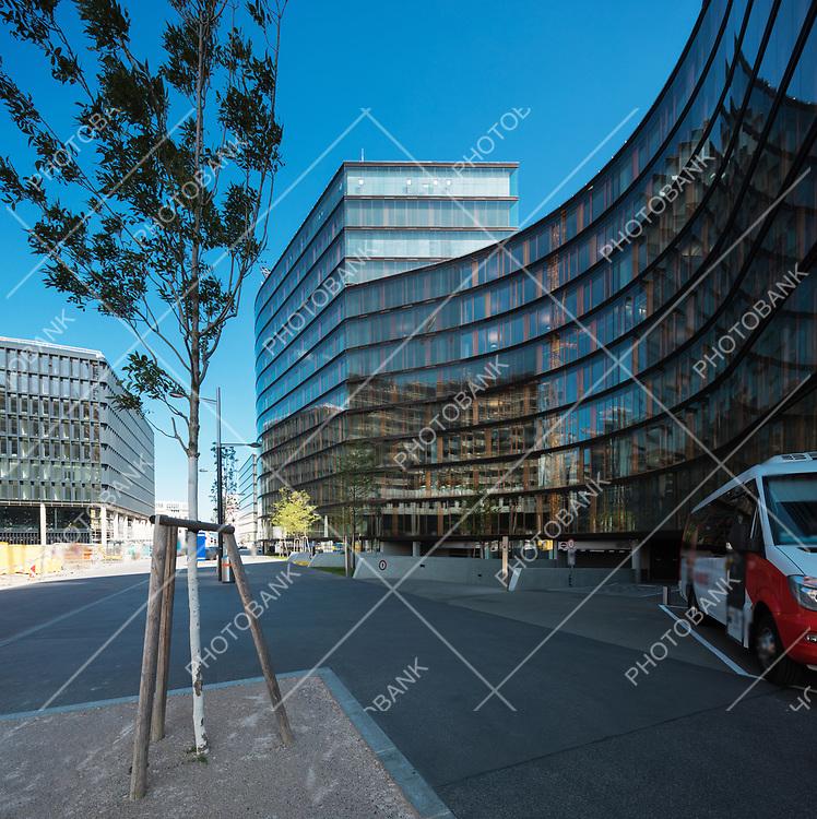 Modern construction in new area. Wien