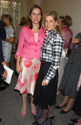 Left to right, SARA DAVENPORT founder of the London Haven and HRH The COUNTESS OF WESSEX at a charity event 'In The Pink' a night of music and fashion in aid of the Breast Cancer Haven in association with fashion designer Catherine Walker held at the Cadogan Hall, Sloane Terrace, London on 20th June 2005.<br />