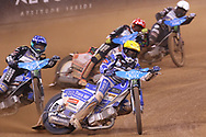 Leon Madsen during the 2019 Adrian Flux British FIM Speedway Grand Prix at the Principality Stadium, Cardiff, Wales on 21 September 2019.