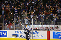 13 February 2003:  USC vs UCLA ice hockey at the Staples Center in Los Angeles after the Calgary Flames game.  ©ShellyCastellano