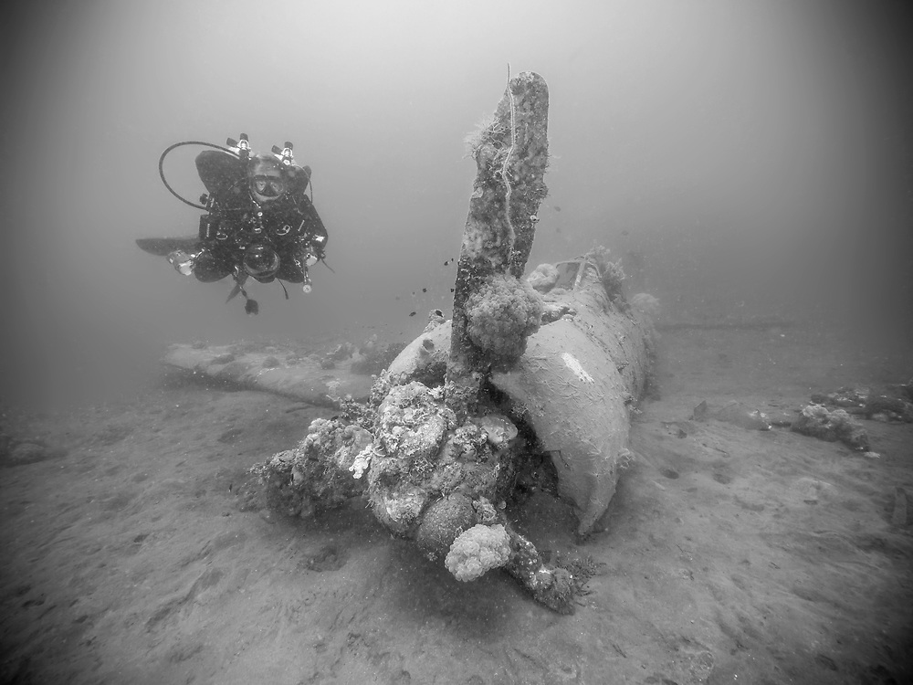 The B25 Mitchell Bomber Wreck in Collingwood Bay, Tufi, Papua New Guinea
