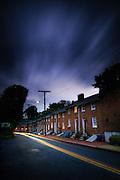 Long Brick Row in historic Oella, Maryland.