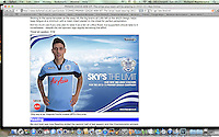 QPR Football Kit  Third 2012 - 2013 season  freelance job for Back Page Images