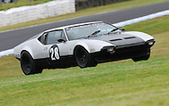Perry Spiridis - Group Sc - De Tomaso Pantera.Historic Motorsport Racing - Phillip Island Classic.18th March 2011.Phillip Island Racetrack, Phillip Island, Victoria.(C) Joel Strickland Photographics.Use information: This image is intended for Editorial use only (e.g. news or commentary, print or electronic). Any commercial or promotional use requires additional clearance.