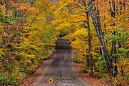 Autumn color along County Road 510 near Marquette, Michigan, USA