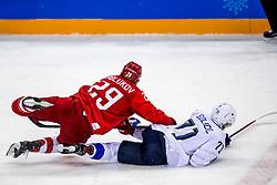 16-02-2018 KOR: Olympic Games day 7, PyeongChang<br /> Ice Hockey Russia (OAR) - Slovenia / forward Ilya Kablukov #29 of Olympic Athlete from Russia, forward Bostjan Golicic #71 of Slovenia
