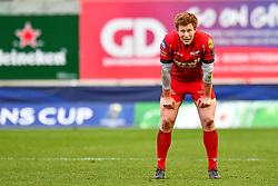 Scarlets' Rhys Patchell in action during todays game<br /> <br /> Photographer Simon King/Replay Images<br /> <br /> EPCR Champions Cup Round 3 - Scarlets v Benetton Rugby - Saturday 9th December 2017 - Parc y Scarlets - Llanelli<br /> <br /> World Copyright © 2017 Replay Images. All rights reserved. info@replayimages.co.uk - www.replayimages.co.uk