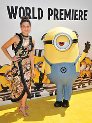 """Jenny Slate arrives at the """"Despicable Me 3"""" Los Angeles Premiere held at the Shrine Auditorium in Los Angeles, CA on Saturday, June 24, 2017.  (Photo By Sthanlee B. Mirador) *** Please Use Credit from Credit Field ***"""