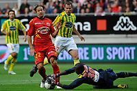 FOOTBALL - FRENCH CHAMPIONSHIP 2010/2011 - L2 - LEMANS FC v FC NANTES - 27/05/2011 - PHOTO GUY JEFFROY / DPPI - THORSTEIN HELSTAD (MANS) / GUY NDY ASSEMBE (NAN)