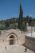 Tomb of the Virgin Mary, also known as the Church of the Assumption on 31st March 2016 in Jerusalem, West Bank. Marys Tomb is a tomb located on the foothills of Mount of Olives. It is regarded as the burial place of Mary, the mother of Jesus.