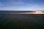 Kustlijn bij het strand Hoek van Holland