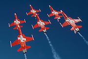 Swiss jet team Patrouille Suisse in F-5Es
