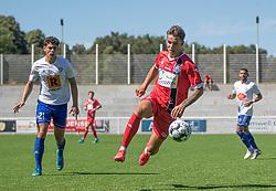 Oliver Kjærgaard (FC Helsingør) under træningskampen mellem FC Helsingør og HIK den 1. august 2020 på Helsingør Ny Stadion (Foto: Claus Birch).