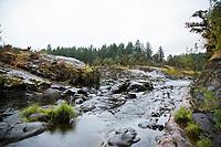 Colliding Rivers, North Umpqua River. Cascade Mountains, Oregon.
