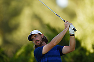 Tommy Fleetwood (ENG) on the 5th tee during the 3rd round at the CJ CUP, Shadow Creek, Las Vegas, Nevada, USA. 17/10/2020.<br /> Picture Ken Murray / Golffile.ie<br /> <br /> All photo usage must carry mandatory copyright credit (© Golffile | Ken Murray)
