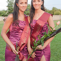 Dora and Dominica Urszity placed third during the Queens of Twins beauty contest organized as part of the 12th Twin Festival held 7th time in Szigehalom (about 15 km from Budapest), Hungary on July 23, 2011. ATTILA VOLGYI