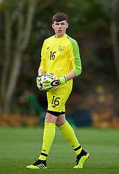 WREXHAM, WALES - Wednesday, October 30, 2019: Republic of Ireland's goalkeeper Reece Byrne during the 2019 Victory Shield match between Wales and Republic of Ireland at Colliers Park. (Pic by David Rawcliffe/Propaganda)