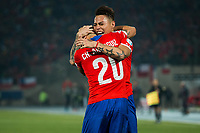 Fotball<br /> Copa America<br /> 29.06.2015<br /> Chile v Peru<br /> Foto: imago/Digitalsport<br /> NORWAY ONLY<br /> <br /> Eduardo Vargas of Chile Celebrates After Scoring Goal during Match between Chile v Peru <br /> Semi Final of The Copa America 2015