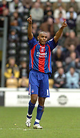 Photo: Leigh Quinnell.<br /> Derby County v Crystal Palace. Coca Cola Championship. 25/03/2006. Clinton Morrison celebrates his goal for Crystal Palace.