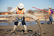 Union Worker Pouring Concrete