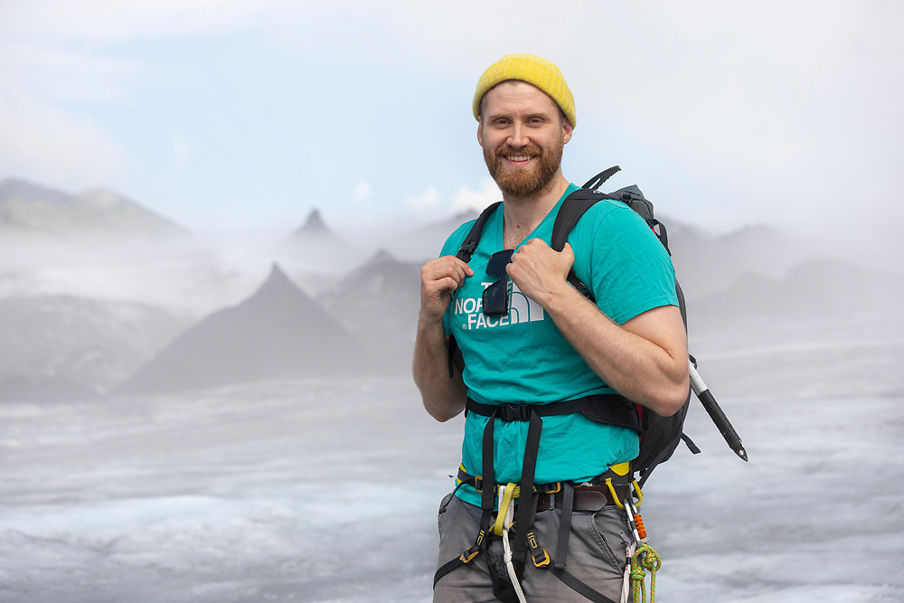 Glacier guide in Iceland