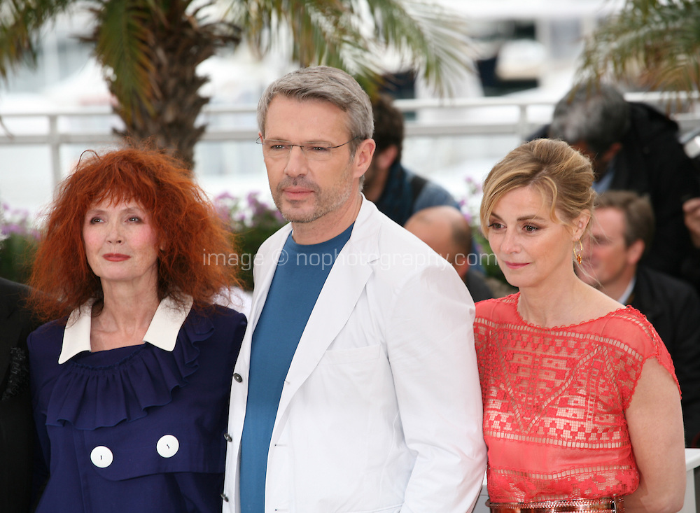 Sabine Azema, Lambert Wilson, Anne Consigny, at the Vous N'Avez Encore Rien Vu photocall at the 65th Cannes Film Festival France. Monday 21st May 2012 in Cannes Film Festival, France.