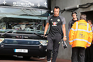 John Terry of Chelsea arrives off the team bus ahead of the game. Premier league match, Swansea city v Chelsea at the Liberty Stadium in Swansea, South Wales on Sunday 11th Sept 2016.<br /> pic by  Andrew Orchard, Andrew Orchard sports photography.