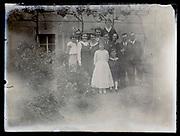 deteriorating family portrait France 1933