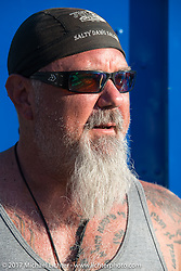 Jim Cole of Minneapolis, MN at the Buffalo Chip campground during the annual Sturgis Black Hills Motorcycle Rally. Sturgis, SD. USA. Thursday August 10, 2017.  Photography ©2017 Michael Lichter.